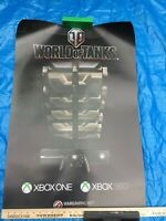 """World of Tanks Official Poster XBOX 360 ONE 24"""" x 36"""" *Never displayed"""