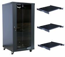 15U Wall Mount Network Server Cabinet Enclosure Glass Door Lock 22.75