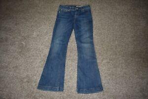 Ralph Lauren Girls RL Flare Blue Denim Jeans Size 6X