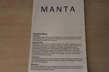 153021) Opel Manta B - technische Daten & Ausstattungen - Prospekt 08/1984