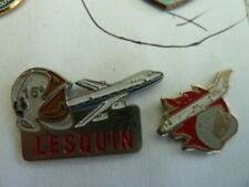 PIN'S  POMPIER  / LOT DE 2   /  LESQUIN     /  59   /  SUPERBE