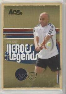 2006 Ace Authentics Heroes & Legends Gold Materials /100 Andre Agassi #1