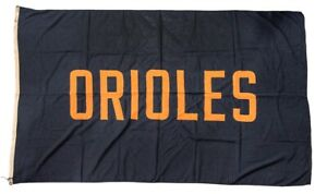 1950's Baltimore Orioles Team Large Canvas Flag Sign from Old Yankee Stadium