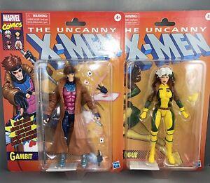 Hasbro Marvel Legends Rogue Gambit Retro Card Uncanny X-Men Target Exclusive Set