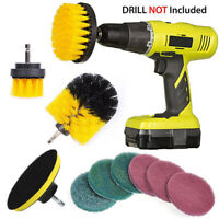 10Pcs Tile Grout Power Scrubber Cleaning Drill Brush Set Combo Scrub Tub Cleaner