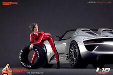 1/18 Racing girl figure VERY RARE !! for1:18 CMC Autoart Ferrari Mercedes BBR