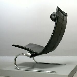 Poul Kaerholm für Fritz Hansen Sessel PK 20, Leder schwarz Lounge Chair 1987