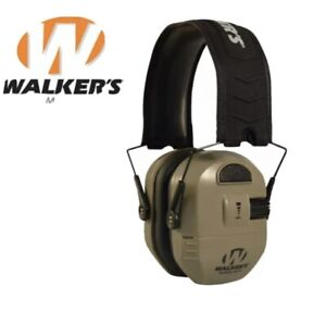 Walker's Ultimate Alpha Power Muff Electronic Earmuffs (NRR 26dB) Earth Shooting