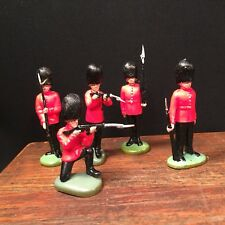 Vintage Britains Toy Soldier Lot (5) Figure Scots Guard Hong Kong  PRIORITY MAIL