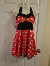 Minnie Mouse Dress Costume size S M Halloween No Sleeve