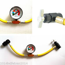 "R134a Car Air Conditioning Recharge 1/2"" Hose Refrigerant Can Tap Pressure Gauge"