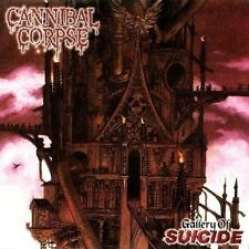 "CANNIBAL CORPSE ""GALLERY OF SUICIDE"" VINYL LP REISSUE LTD BACK ON BLACK NEW"