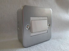Metallo placcati FAN ISOLANTE SWITCH CON RETRO BOX TRIPPLE polo interruttore di isolamento