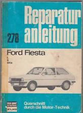 Istruzioni di riparazione 278 FORD FIESTA L S GHIA INGRANAGGI MOTORE IMPIANTO ELETTRICO FRENI 1980