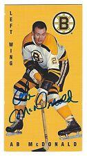 Autographed 1994 Parkhurst Tall Boy Ab McDonald Card #14 Boston Bruins