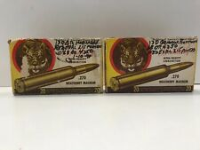 .270 Weatherby Magnum Ammunition Box Only Tiger 1960s