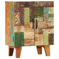 vidaXL Hand Carved Sideboard Solid Reclaimed Wood Side Cabinet Storage Stand