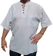 Camisas casuales de hombre blancas 100% algodón