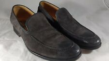 Johnston Murphy suede loafers 10 M Gray Casual Italy slip on 24-0719