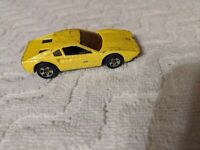 Vintage 1977 Hot Wheels Yellow Twister Ferrari Mattel Die Cast Toy Car 70's