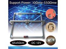 DC 12V 50x65cm Area 100-5500Mw DIY Desktop Mini Laser Engraving Cutting Machine