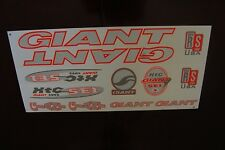 Giant  Stickers Silver, Orange & White XTC SE1