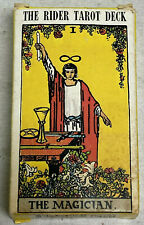 very nice 1971 Rider Tarot Card Deck Magician with instructions