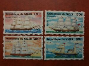 Niger - 1984 - Sailing Steam / Ships - 4 stamp set - CTO