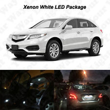 16x White LED Interior Bulbs + Reverse + Tag Lights For 2013-2015 2016 Acura RDX