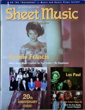 SHEET MUSIC MAGAZINE - CONNIE FRANCIS COVER STORY - JAN / FEB 1997
