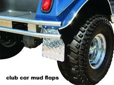 Club Car ds Golf Cart Highly Polished Diamond Plate Mud flaps / guards set
