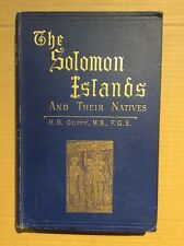 The Solomon Islands and Their Natives by H B Guppy - 1887 Hardback VG