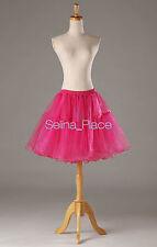 Crystal Above Knee Length Swing Vintage Crinoline Petticoat Skirt Silps TUTU 50s