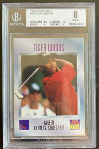TIGER WOODS 1996 Sports Illustrated For Kids SI ROOKIE #536 BGS 8 NM-MT LOW POP