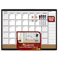 Quartet Dry Erase Cork Calendar Board Combo Value Pack, Magnetic, Black Frame (4