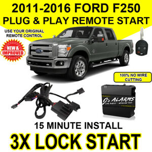 2011 - 2016 Ford F250 Super Duty Remote Start Plug and Play 3X Lock Easy DIY FO1