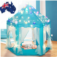 Teepee Play Princess Castle Girls Play Tent Childrens Kids House Indoor Gift Toy