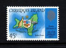 ISOLA CHRISTMAS Regina Elisabetta II del Giubileo d'argento 1977 emissione SG 83 Gomma integra, non linguellato