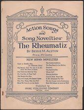 THE RHEUMATIZ novelty song FUNNY AGING SONG Bessie M. Alston DAYTON, OHIO 1937
