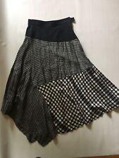 Comme des garcons Skirt Midi Black White Medium France Rayon Cotton Flared