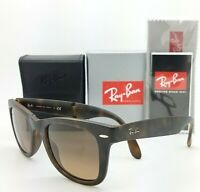 NEW Rayban Sunglasses RB4105 894/43 50 Tortoise Brown Gradient Folding Wayfarer