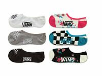 Vans Girls Socks Trainer Liner 3 Pack No Show Invisible Flowers Checkers