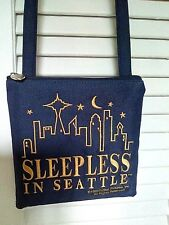 Rare~SLEEPLESS IN SEATTLE Small Cross-Body Purse~Blue/Gold~Movie Collectible~NEW