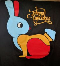 NEW Johnny Cupcakes Rainbow Rabbit T Shirt Black Mens M Medium Bunny Easter