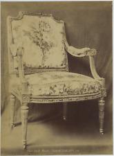 J.D., France, Garde Meuble - Fauteuil Louis XVI  Vintage albumen print Tirage