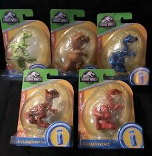 Imaginext Jurassic World Dinosaur Egg SET of 5 Lot Blue Raptor T-Rex Compies