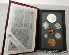 1996 Canada 7 Coin Prestige Silver PROOF Set With McIntosh Dollar #coinsofcanada
