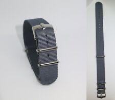 20mm NATO BOND cinturino per orologio grigio con fibbia Rolex