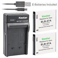 Kastar SLB-07A Battery Charger Samsung PL150 PL151 ST45 ST50 ST500 ST550 ST560
