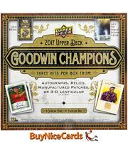 2017 Upper Deck Goodwin Champions 16 Box Case, Ben Simmons Exquisite RC Auto /99